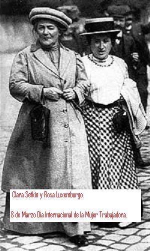 La verdad sobre el 8 de Marzo, día internacional de la mujer trabajadora Zetkin_luxemburg19102-3-